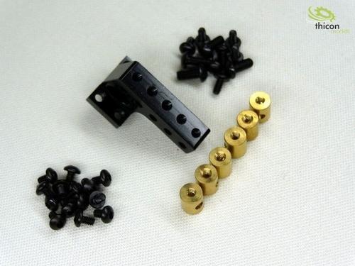 Brug voor sperdifferentieel aluminium zwart  1/14