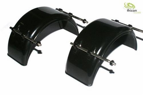 Spatscherm smalle zwarte kunststof met houder  2 stuks