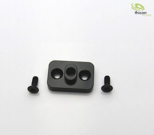 Houder differentiële boven aluminium zwart   1 stuks