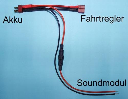 Batterij Y-connector en zekeringhouder  1 stuks