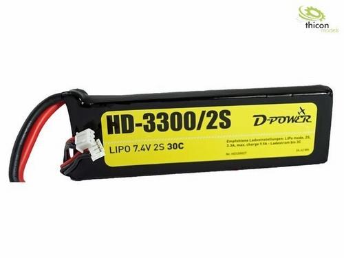 HD-3300 2S Lipo (7,4V)  1 stuks