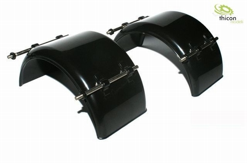 spatbord breed zwart plastic met houder