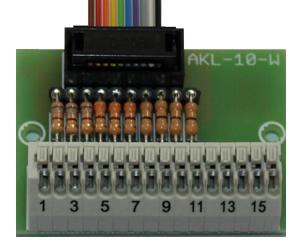 Aansluiting voor schakeluitgangen AKL-10-W,  voor de UMC-2