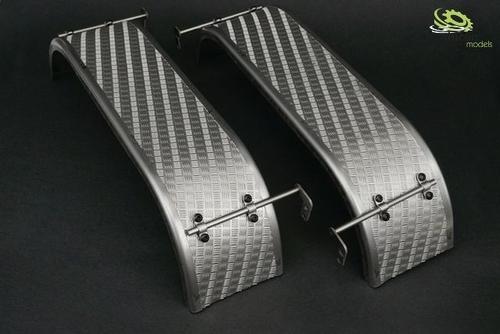Dubbele spatborden rond van roestvrij staal