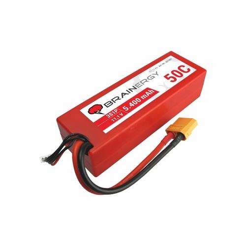 Brainergy LiPo-batterij 3s1p 11.1V 5400mAh 50C XT90