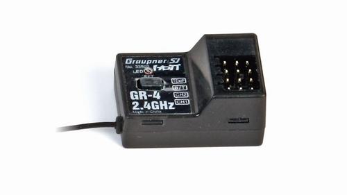 GR-4 2-kanaals HoTT 2,4 GHz-ontvanger