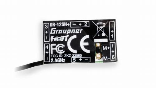 GR-12SH + 6-kanaals 2,4 GHz HoTT-ontvanger