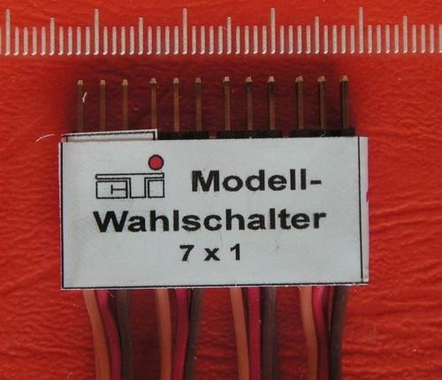 Modelkeuzeschakelaar 7x1