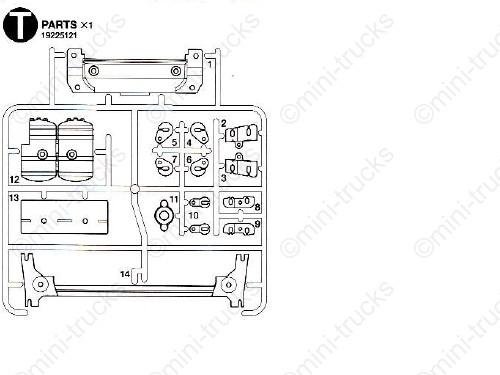 T Deel bevesteging led verlichting/lucht tank