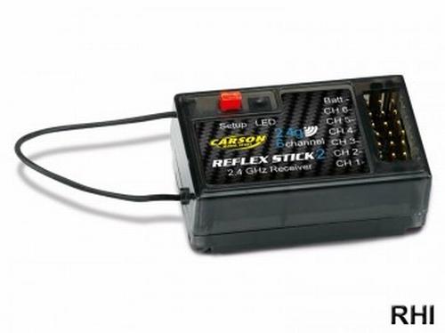Reflex 6-kanaals ontvanger 2,4 ghz  1 stuks