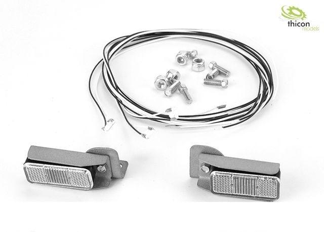 Achterlichten met metalen houder en leds voor bouwmachinemod