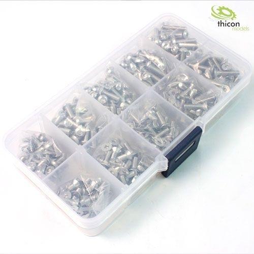 Assortiment roestvrijstalen schroef (400 stuks) in doos