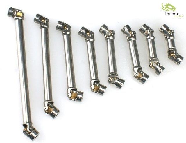 Cardanas roestvrij staal 92-122mm met 5mm gaten