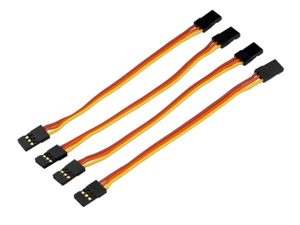 Servo patchkabel goud connector 10cm