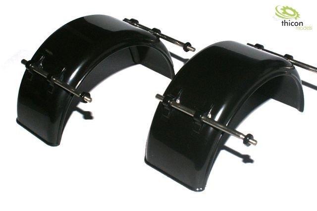 spatbord smal zwart kunststof met houders