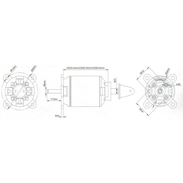 SPITZ borstelloze motor 435KV