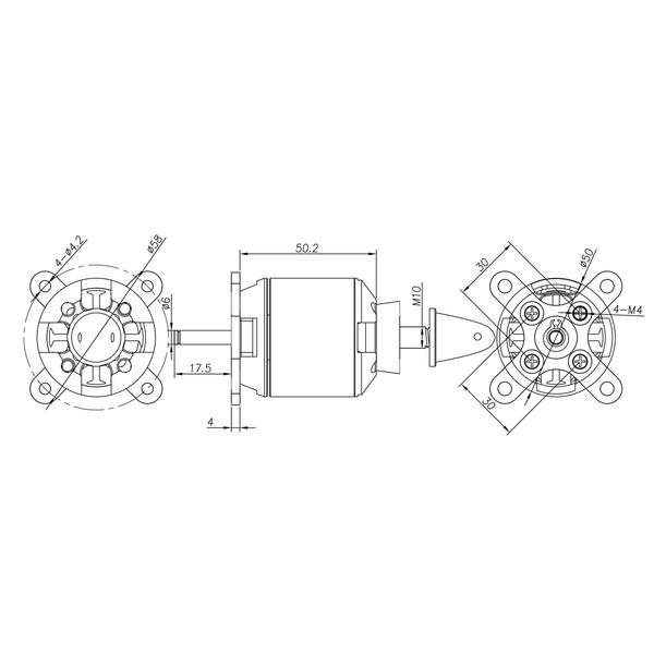 SPITZ borstelloze motor 570KV