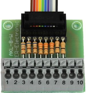 Verbindingsklem voor schakeluitgangen AKL-8-W, voor de SFR