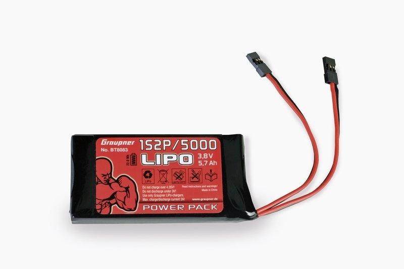 Zenderakku LiPo 1S2P / 5000 TX