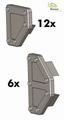 Hoekverbinding 5mm voor thicon zware toren 1 set