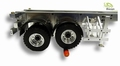 railer 2-axle verwisselbare houders