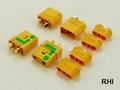 XT-90 Anti Blits Goudkontakte geel - 2 Paar 2 stuks