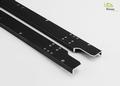 Frameprofiel  4-assige kieper aluminium zwart 2 stuks