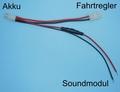 Y kabel-Tamiya-stekker