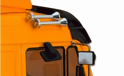 Truck kunstof Hoorn en Spiegel 1 set