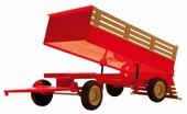 Kiep aanhanger 2 asser  voor de porsche Diesel 1/14