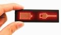 LED Badge met rode leds 44 x 11 ledjes  1 stuks